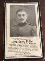 Sterbebild Wk1 Bidprentje Avis Décès Deathcard IR1 CHOPPY 25. September 1914 Aus Neukirchen - 1914-18
