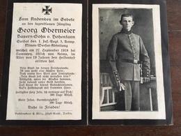 Sterbebild Wk1 Bidprentje Avis Décès Deathcard IR1 SOMME PY ST. ÉTIENNE À ARNES Aus Hohentann - 1914-18