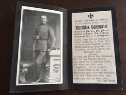 Sterbebild Wk1 Bidprentje Avis Décès Deathcard RIR2 ARRAS 9. April 1917 Aus Pürten - 1914-18