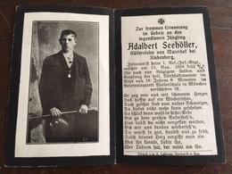 Sterbebild Wk1 Bidprentje Avis Décès Deathcard RIR1 Reserve Lazarett Weilerschule München 15. November 1918 Aus Maierhof - 1914-18
