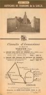 FEUILLET  TOURISTIQUE AUTOCARS DE TOURISME DE LA SNCF 1951  CIRCUIT DE REIMS ET ENVIRONS ET VERDUN - Tourism Brochures