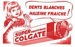 D C/ Buvard Dentifrice Colgate  (N= 1) - Buvards, Protège-cahiers Illustrés