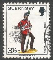 Guernsey. 1974 Guernsey Militia. 3½p Used. SG 104 - Guernsey