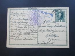 Österreich GA / Doppelkarte 1917 Mit Wappenstempel Sittich / Abt ?? Und Zensurstempel Nach Görlitz. Interessante Karte!! - 1850-1918 Imperium
