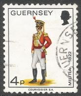Guernsey. 1974 Guernsey Militia. 4p Used. SG 105 - Guernsey