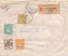 POSTE NAVALE , MAROC - LETTRE DU BUREAU NAVAL 56 DE CASABLANCA POUR AUBIET AVEC RECOMMANDE ,  31 05 1945 - Marcophilie (Lettres)