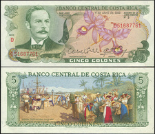Costa Rica. 5 Colones (Unc) 1983. Banknote Cat# P.236aa - Costa Rica