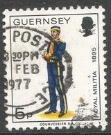 Guernsey. 1974 Guernsey Militia. 5p Used. SG 105a - Guernsey