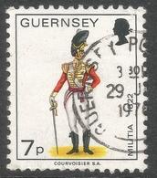 Guernsey. 1974 Guernsey Militia. 7p Used. SG 107a - Guernsey
