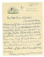 Papier A Lettre COMPAGNIE MARITIME CUNARD LINE PAQUEBOT R. M. S. CARONIA - United Kingdom
