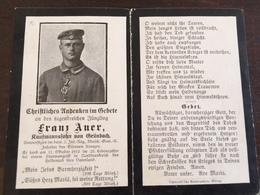Sterbebild Wk1 Bidprentje Avis Décès Deathcard IR2 MGK St. Laurent Blangy Block 3 Grab 754 - 1914-18