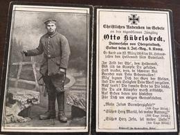 Sterbebild Wk1 Bidprentje Avis Décès Deathcard IR3 22. März 1916 Aus Obergeislbach - 1914-18