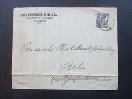 Rumänien 1924 Belege Mit Perfin / Firmenlochung Banca Marmorosch Blank & Co. Societate Anonima Bucuresti - Covers & Documents