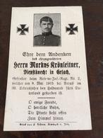 Sterbebild Wk1 Bidprentje Avis Décès Deathcard RIR2 ARRAS St. LAURENT BLANGY Aus Erlach - 1914-18