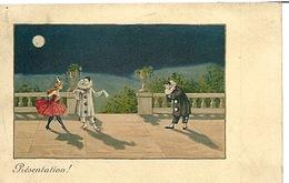 Carte M M Vienne Pierrot Et Colombine - Bordados