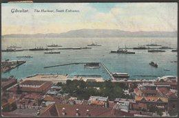 The Harbour, South Entrance, Gibraltar, 1923 - Beanland, Malin & Co Postcard - Gibraltar
