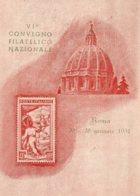 [DC7779] CPA - VI CONVEGNO FILATELICO NAZIONALE ROMA GENNAIO 1951 - PERFETTA - Viaggiata 1951 - Old Postcard - Borse E Saloni Del Collezionismo