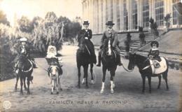 [DC7786] CPA - FAMIGLIA REALE A RACCONIGI - CARTOLINA FOTOGRAFICA - Non Viaggiata 1906 - Old Postcard - Case Reali