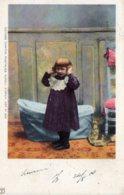 [DC7787] CPA - BAMBINA CON CULLA - Viaggiata 1900 - Old Postcard - Bambini