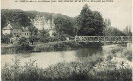 CPA - France - (37) Indre Et Loire - Tours - Ussé - Le Château Côté Est Et Le Pont Sur L'Indre - Tours
