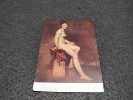 "ANTIQUE POSTCARD  ART PAINTING "" NU ASSIS"" - MADEMOISELLE ROSE "" BY DELACROIX UNUSED - Peintures & Tableaux"