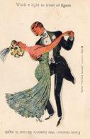 [DC7801] CPA - CARTOLINA COLLAGE IN RILIEVO - WORK A LIGHT I  FRONT OF FIGURE - Non Viaggiata - Old Postcard - Danza