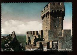 B7564 REPUBBLICA DI SAN MARINO - PRIMA E SECONDA TORRE ACQUARELLATA - San Marino