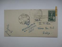 ESTONIA RUSSIA USSR 1945 TALLINN VALGA CENSOR , OLD SMALL SIZE  POSTCARD , 0 - Estonia