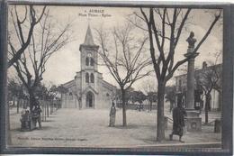 Carte Postale 80. Aumale  Le Rémouleur Place Thiers Très Beau Plan - France