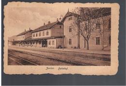 BOSNIA Zenica Bahnhof  Railway Station Ca 1920  OLD POSTCARD 2 Scans - Bosnia Y Herzegovina
