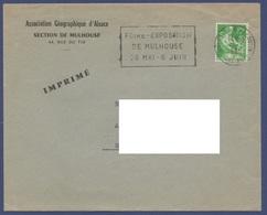 FRANCE  1958  TARIF IMPRIME   N°YT 1115A   Seul Sur Lettre - Frankrijk