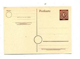 Carte Postale 10 Chiffre - American,British And Russian Zone