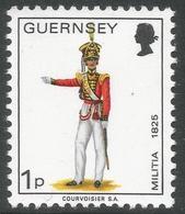 Guernsey. 1974 Guernsey Militia. 1p MH. SG 99 - Guernsey