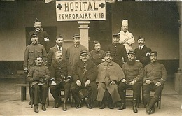 Militaria Guerre 1914 1918 Hôpital Temporaire N°18 Carte Photo - Guerre 1914-18