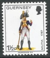 Guernsey. 1974 Guernsey Militia. 1½p MH. SG 100 - Guernsey