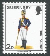 Guernsey. 1974 Guernsey Militia. 2p MH. SG 101 - Guernsey