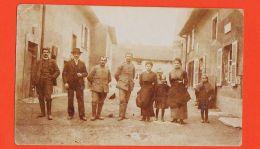 Nw5013 Rare Carte-Photo MARINGEN SILVINGEN Moselle Soldat Et Civil Animation De Rue 10-05-1917 à Marc CHARPENTIER - Otros Municipios