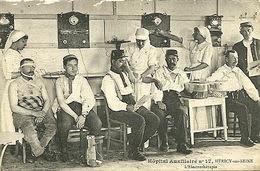 Militaria 1914 1918 Hôpital Auxilliaire  N°17 Carte Photo Héricy /seine Près Melun Quelques éraflures électrothérapie - War 1914-18