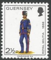 Guernsey. 1974 Guernsey Militia. 2½p MH. SG 102 - Guernsey