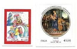 2017 - Italia 3866/67 Natale - Quadri