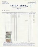 Factuur Schoenen Niga Shoe / Izegem  1962 - Belgique