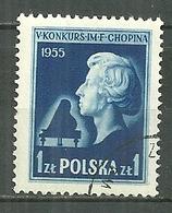 POLAND Oblitéré 784 Frédéric CHOPIN Musique Musicien Piano - 1944-.... Republic