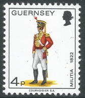 Guernsey. 1974 Guernsey Militia. 4p MH. SG 105 - Guernsey