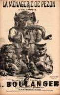 La Ménagerie De Pezon ! Scène Comique, Partition Ancienne, Petit  Format, Couverture,  Dessin Animalier Chatiniere - Noten & Partituren