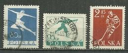 POLAND Oblitéré 733-735 Sports D'hiver Patinage Ski Hockey Sur Glace - 1944-.... Republik