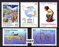 Andorra 256/260 ** 1997 Año Completo - Unused Stamps