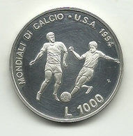 1994 - San Marino 1.000 Lire - Mondiali Di Calcio - San Marino