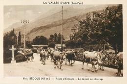 BEDOUS ROUTE D'ESPAGNE DEPART AU PATURAGE VALLEE D'ASPE 64 - Frankrijk