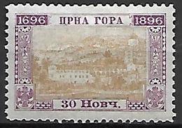 MONTENEGRO    -    1896.   Y&T N° 38 *. - Montenegro