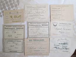 Lot De 20 Avis De Passage Et Cartes Postales Publicitaires - Cartes De Visite